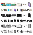 book in the binding cartoon icons in set vector image vector image