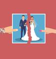 break up of relationship vector image