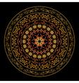 bright round geometric ornament vector image