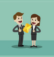 businessman or manager and businesswoman have a vector image