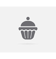 Cake Cupcake Cream Cherry Element or Icon Ready vector image