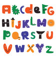 cartoon alphabet characters vector image vector image