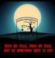 cartoon halloween scary night poster vector image vector image