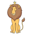 cartoon lion royal vector image vector image