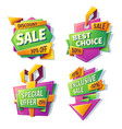 cartoon sale banners badges stickers tags vector image vector image