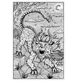 chimera engraved fantasy vector image vector image
