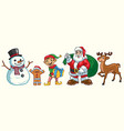 christmas character set vector image