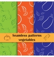 Collection of hand drawn seamless pattern cooking vector image vector image