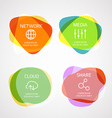 Different color blobs with template text elements vector image