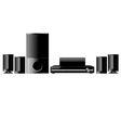 dvd home theater vector image