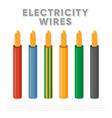 electricity wires multicore industrial cables vector image