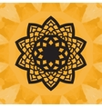 Elegant yantra-like pattern on yellow seamless vector image vector image