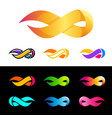flame logo template fire design infinity symbol vector image