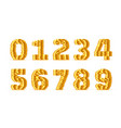 font style made golden coins vector image