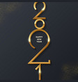 golden 2021 new year logo holiday greeting card vector image vector image