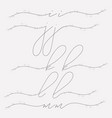 hand lettering floral lowercase monograms vector image vector image