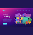 home cooking concept landing page vector image vector image