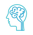 Human head and brain icon mind concept vector image