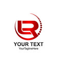 initial letter lr logo template colored red vector image vector image