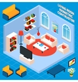 Isometric Living Room Interior vector image vector image