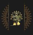 krishna janmashtami gold logo design vector image vector image