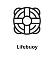 lifebuoy line icon vector image