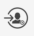 login icon with settings sign vector image