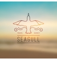 logo of seagull and waves vector image vector image