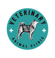 logotype veterinary clinic vector image vector image