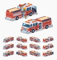 Low poly fire truck vector image vector image