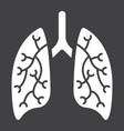 lungs glyph icon medicine and healthcare vector image vector image