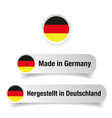 made in germany label vector image vector image