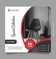 modern and creative design furniture social media vector image