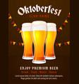 oktoberfest poster design munich beer festival vector image vector image