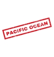 Pacific Ocean Rubber Stamp