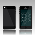 password on black phone vector image vector image