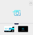 photography photographer camera logo template vector image vector image