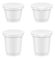 plastic container of yogurt or ice cream 05 vector image