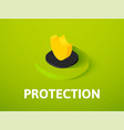 protection isometric icon isolated on color vector image