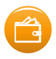 purse icon orange vector image