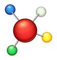 red molecule icon cartoon style vector image vector image