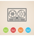 reel tape recorder icons vector image vector image