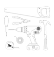 Renovation instruments set Contour vector image vector image