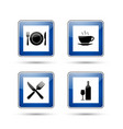 restaurant road signs vector image vector image