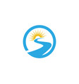 s letter river logo template icon vector image vector image