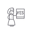 say yes line icon concept say yes linear vector image