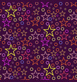seamless geometric pattern of circles and stars on vector image vector image