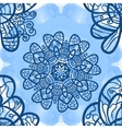 Seamless mandala-like elegant ornate pattern on vector image vector image