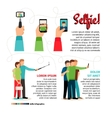 Selfie infographics vector image vector image