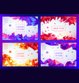 set of abstract triangular banners vector image vector image